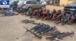 Ogun Police Parade 23 Suspects, Recover Sophisticated Weapons