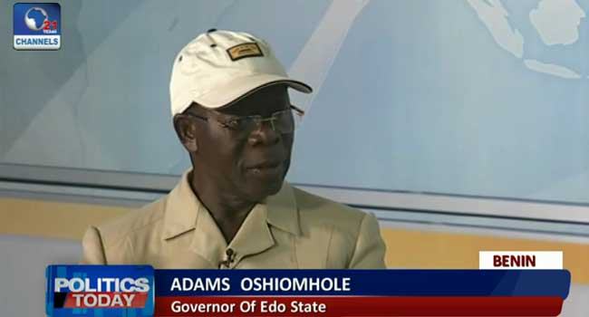 Governor Oshiomhole Condemns Postponement of Edo Election