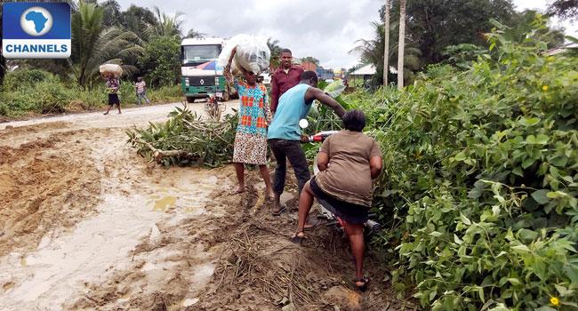 Bad Road In Mkpat Enin, Akwa Ibom