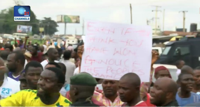 Protests Trail Edo Governorship Election Result Announcement