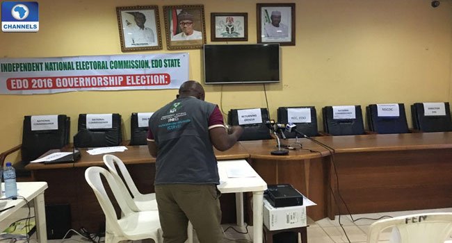 INEC-Headquarters-Benin-City-Edo-Govenorship-Election