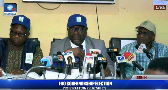 INEC Returning Officer declares Godwin Obaseki winner of Edo governorship polls