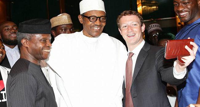 Mark Zuckerberg takes Selfie With Muhammadu Buhari