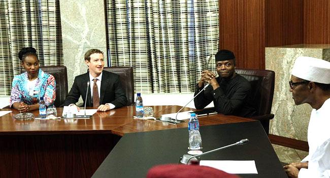 Muhammadu Buhari and Mark Zuckerberg