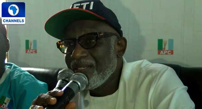 Akeredolu Asks For Aspirants' Support To Win Ondo Election