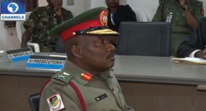Patrick Falola Major General demoted to Brigadier General