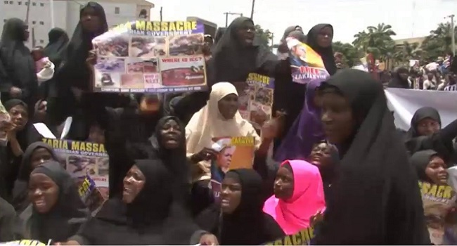 Image result for Police prevent Shiites from holding protest in Abuja