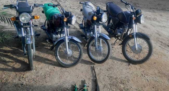 The four motorcycles recovered