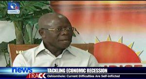 Economic Recession, Nigerians, Change, Consumption Pattern, Oshiomole