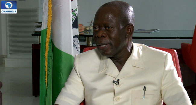 'If The President Condones Disrespect, I Will Not,' Oshiomhole Threatens To Suspend Minister