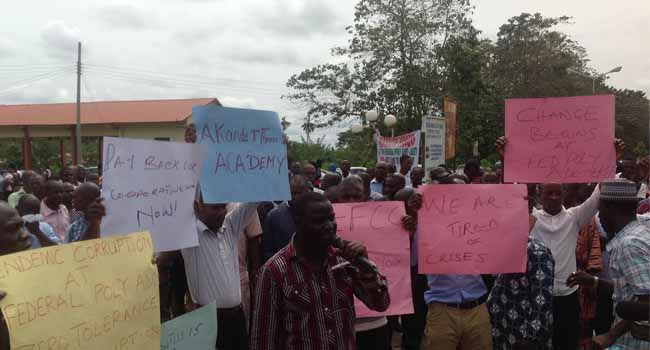 Lecturers At Federal Polytechnic Ado Ekiti Declare Indefinite Strike