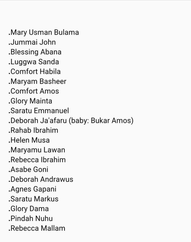chibok-girls-names