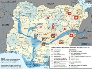 IDMC maps the flow of IDPs within the North Eastern region