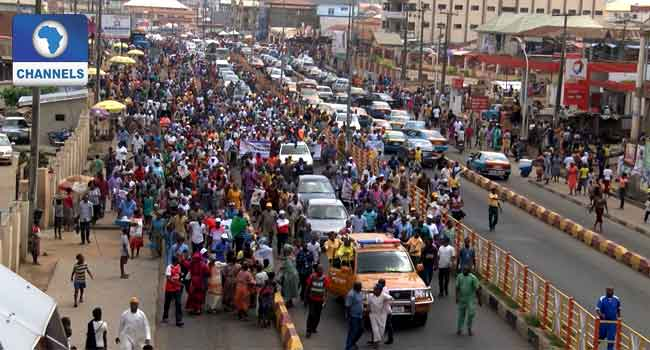 supporters blocked the major highways, singing solidarity songs in support of Jegede