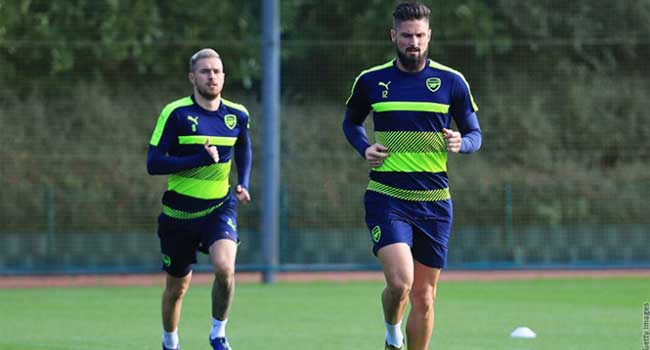 Giroud, Ramsey Return For Arsenal's Trip To Sunderland