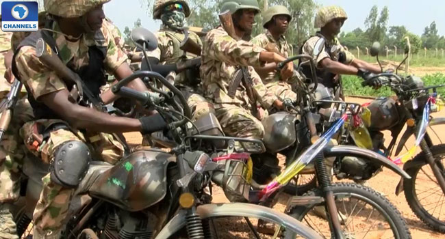 Plateau Security: Military Equip Taskforce With Monitoring Motor Bikes