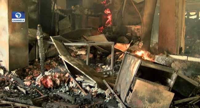 Fire Guts Nkwerre LGA Secretariat In Imo State
