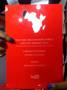 channels tv wins youtube creator awards broadcaster category
