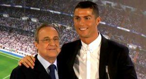 Real Madrid President, Florentino Perez, Cristiano Ronaldo