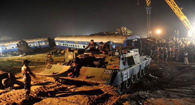 Train Crash Leaves 36 Dead In India