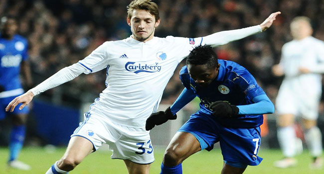 Champions League: Leicester City Top Group After Draw With Koebenhavn
