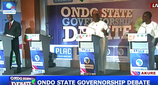 Candidates Reel Out Manifestos In Debate Ahead Of Ondo Election