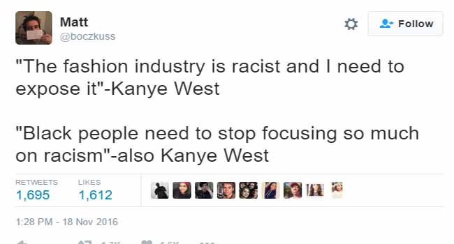 Kanye west, racism