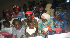 rescued women and children from boko haram