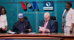 Channels TV, VOA Seal Relationship Formally