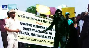 Imo Residents Protest Prolonged Crisis At FMC Owerri