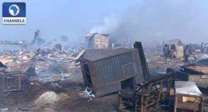 Fire Engulfs Kara Market In Ogun State