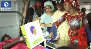 Mrs Saraki Vists Massey Hospital, Island Maternity