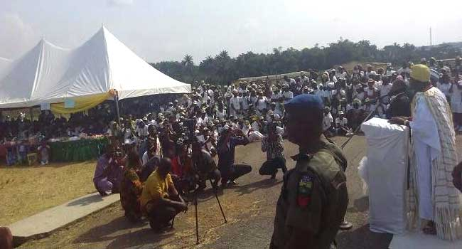 Ooni Of Ife Pays Surprise Visit To Osun NYSC Camp At Ede