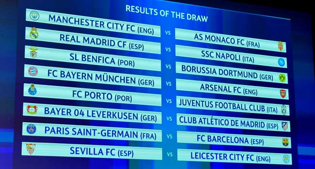 Barcelona To Play PSG In Champions League Round Of 16