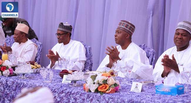 PICTURES: Dignitaries Storm President Buhari's Daughter's Wedding