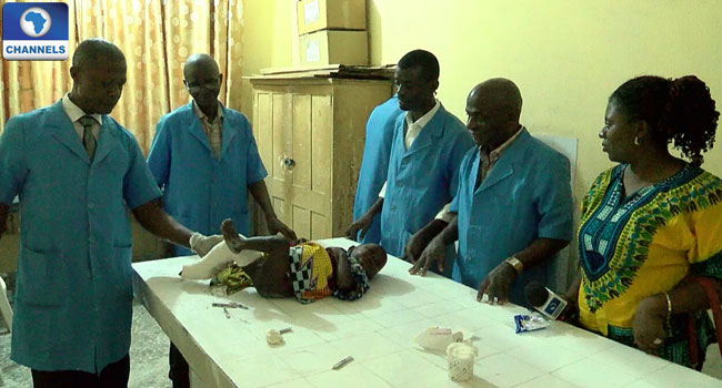 Club Foot Patient Anthony Eyibio Gets Corrective Treatment