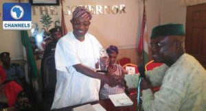 Osun SWAN Inducts Gov. Aregbesola As Grand Patron