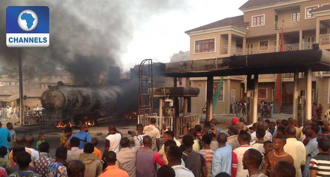Vehicles, Houses Razed As Fire Engulfs Fueling Station in Ekiti