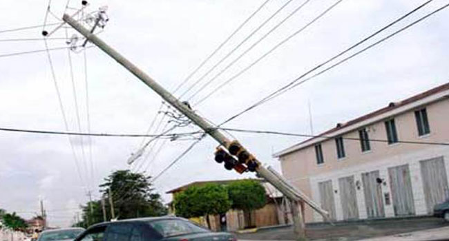 Rainstorm Destroys High Tension Poles In Port Harcourt