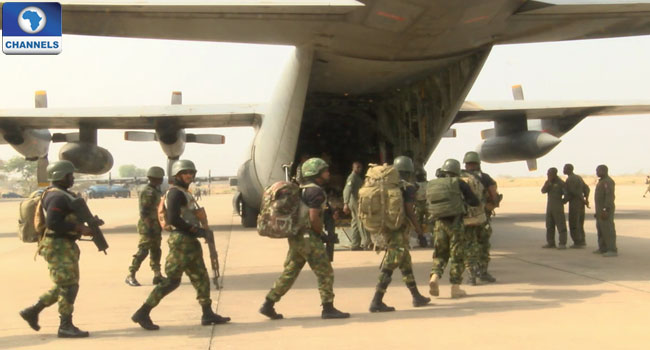 Another Set Of Nigerian Troops Leaves For Gambia Ahead Of Inauguration Date