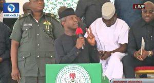 VP Osinbajo Visits Gbaramatu Kingdom in Niger Delta