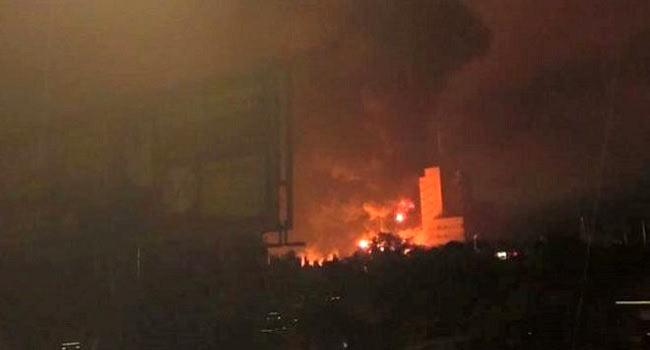 Tanker Fire Destroys Buildings, Properties In Onitsha
