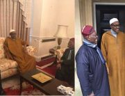 PICTURES: Buhari Hosts Tinubu, Akande In London