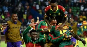 Cameroonian Fans Celebrate Team's Victory