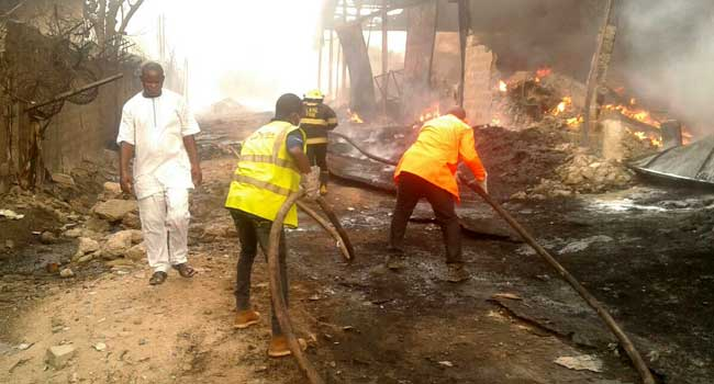 Persons killed, others injured as tank farm consumes fire in Calabar