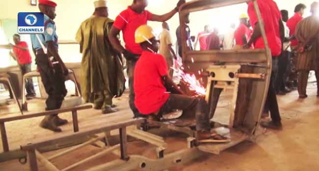 Gombe Youths Engage In Tricycle Assemblage
