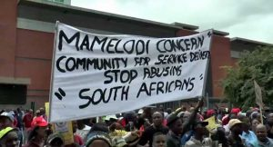 Memelodi residents stage anti-foreigners march in Pretoria, South Africa