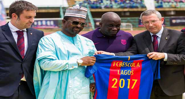 FCBarcelona Officially Lauches Soccer Academy In Lagos