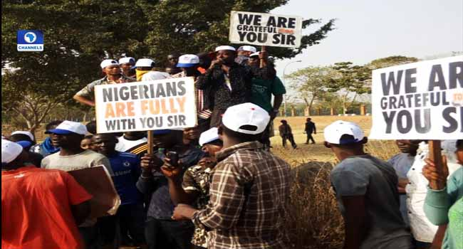 Pro-Government Protest: Groups Gather In Abuja
