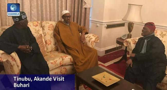 Tinubu, Akande Visit Buhari In The U.K